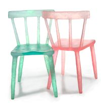 Melted Plastic Perches : Bottle Chair