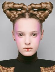 futuristic hair editorials braided