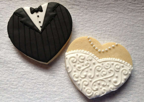 Cute Bridal Confections  Bride and Groom Cookies