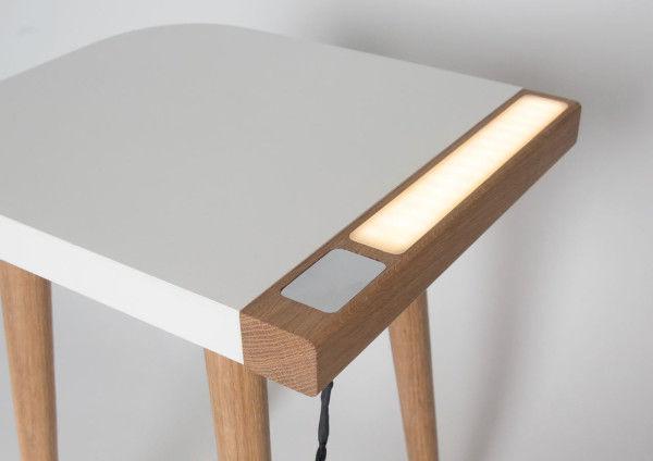 Dual Purpose Bedside Tables : Built-in Lamp