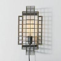 Gridded Metal Illuminators : cage sconce