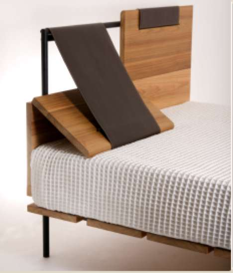 folding chair leather home studio lincoln dining chairs reclining headboards: 'cama clina' by faro design makes reading in bed comfy