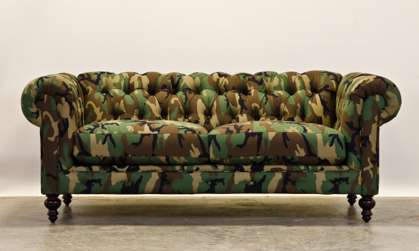 Camouflaged Couches  camo furniture