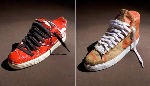 Cardboard Sneakers I HAVE POP Creates Shoes Made Out Boxes