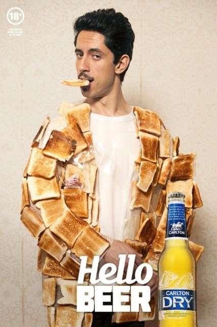 Toast Jacket Beer Ads Carlton Dry Hello Beer