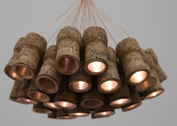 Recycled Celebratory Cork Lighting  Celebratory Cork Lighting