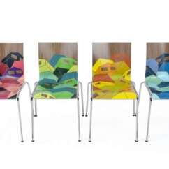 Foldable Rocking Chair Desk For Home Office Geometric Graffiti Furnishings : Chairik