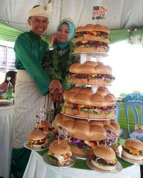 Tiered Hamburger Desserts  Cheeseburger Wedding Cake
