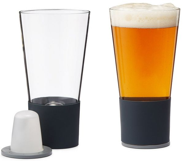Self Chilling Beer Mugs  chilled pint glass