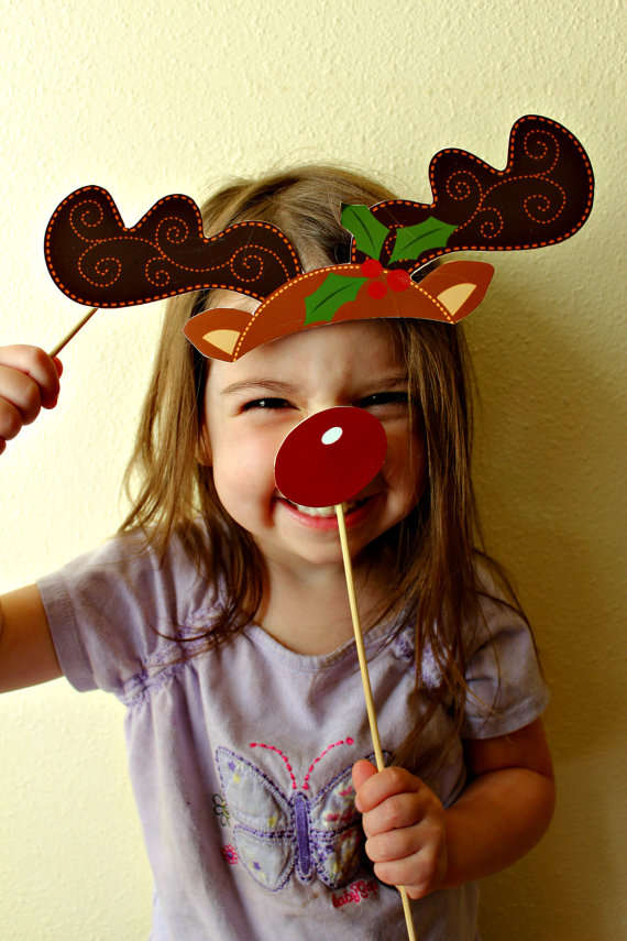 Christmas Photo Booth Decals Christmas Props