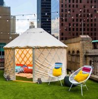 Glamping Yurt Rooftops : circular tent