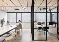 Monochromatically Divided Offices : Clare Cousins Architects