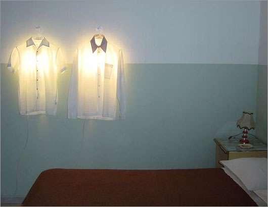 Clothes Hanger Lamp Droog