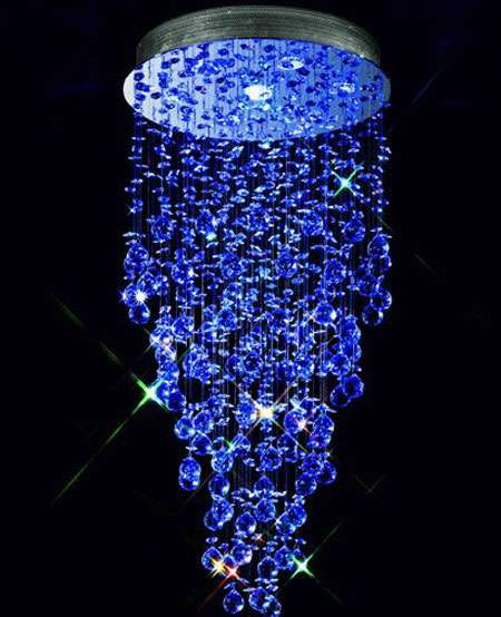 Color Changing Chandelier LED Crystal Ceiling Light