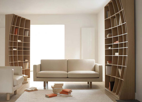 Optical Illusion Shelving  Concave Bookcase