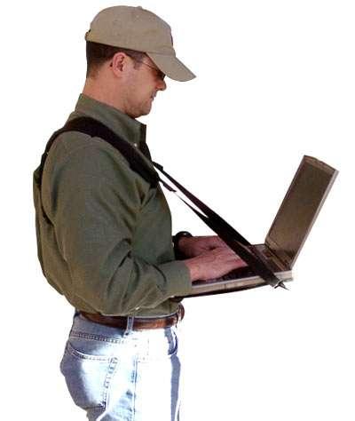 Wearable Computer Desks  connect a desk