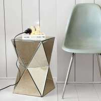 Mirrored Futuristic Furniture : contemporary side table