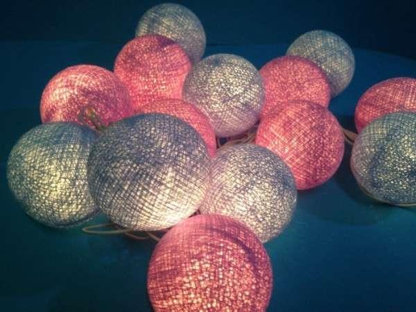 Whimsical Bubble Lanterns  Cotton Ball Patio Lights