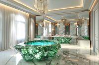 Million-Dollar Crystal Bathtubs : crystal bathtub