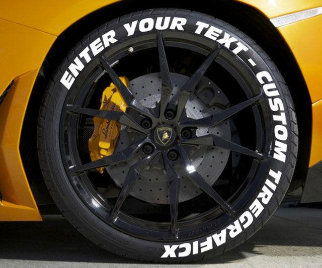 Custom Car Tire Decals  custom decals