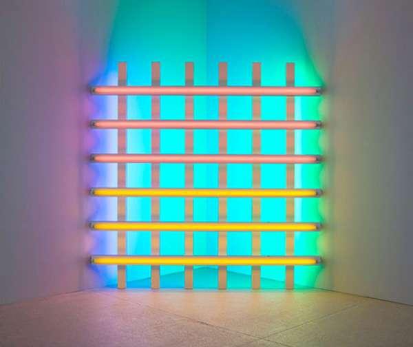 Psychedelic Wall Decor  Dan Flavin Fluorescent Light Fixture