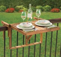 Balcony Railing Tables : deck table