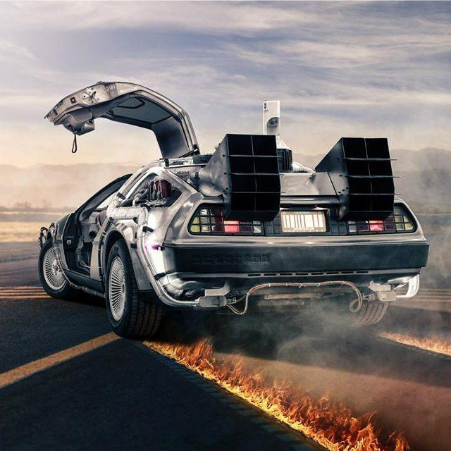 Time Travelling Film Vehicles Delorean Time Machine