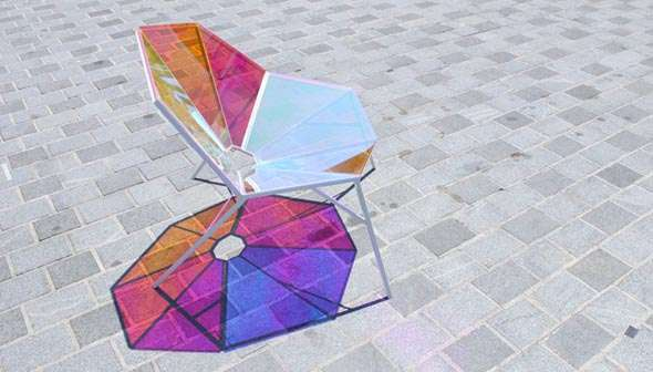 Stained Glass Chairs  Dichroic Armchair