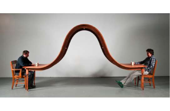 dinner table and chairs steel chair for sale philippines undulating tables : dining by michael beitz