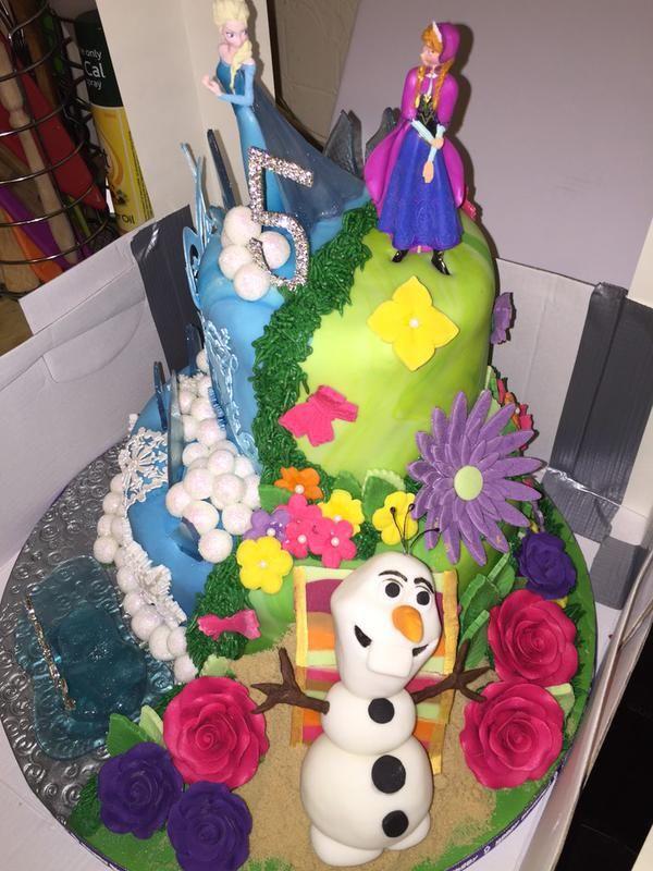 Dual Personality Princess Cakes Disney Cake