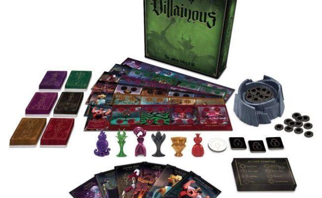 Cartoon Villain Board Games Disney Villainous