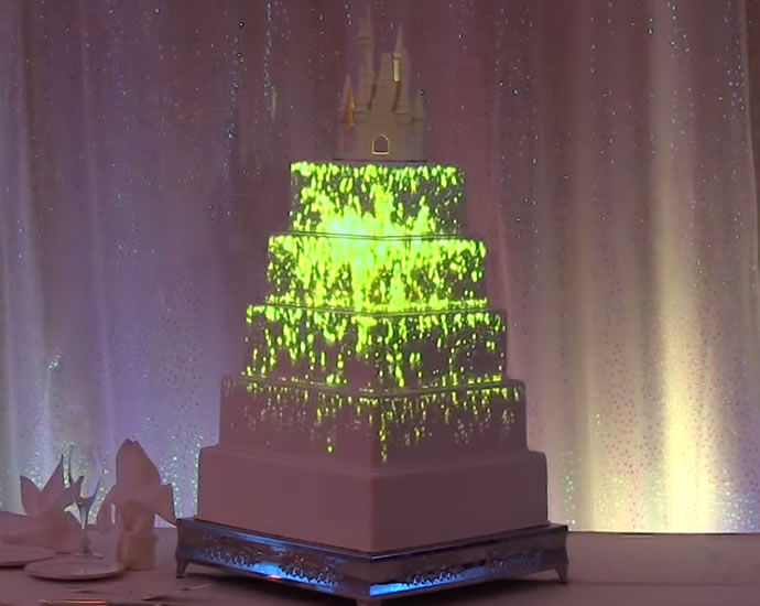 Magical Projection Mapped Cakes Disney Wedding Cake