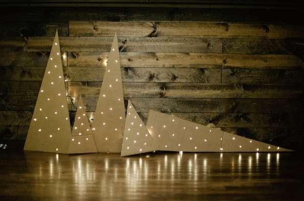 DIY Cardboard Christmas Trees  DIY Cardboard Christmas Trees