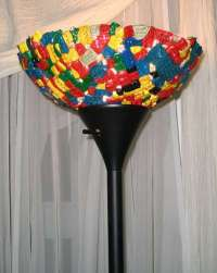 DIY LEGO Lamps: Hideous Lampshade Made of Melted Melange ...
