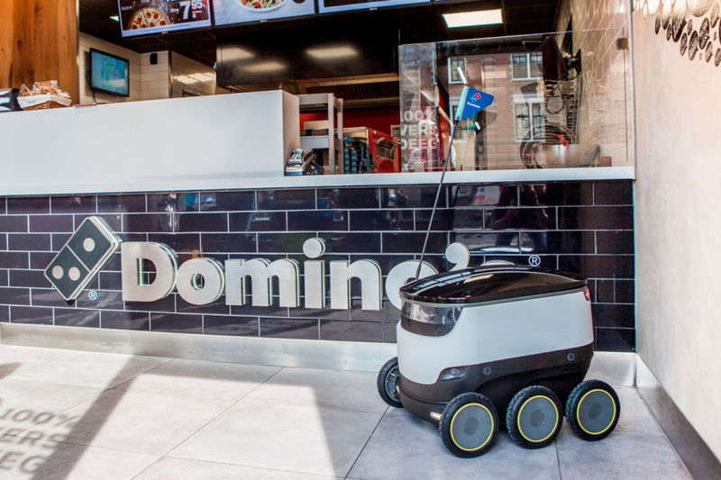 Fast Food Delivery Rovers  Dominos pizza delivery robot