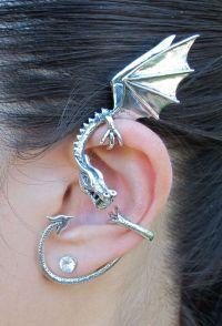 Wild Wyvern Earrings : dragon ear cuff