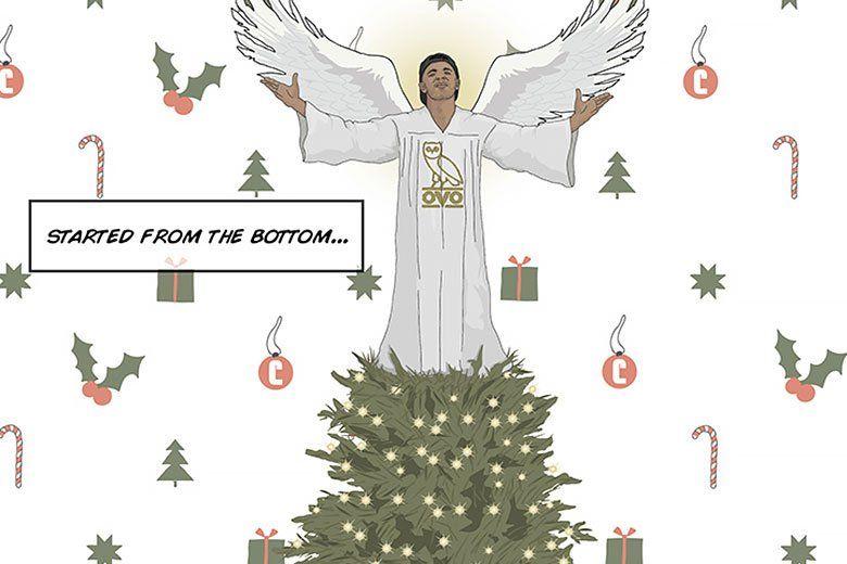 Rapper Holiday Greetings Drake Christmas Cards