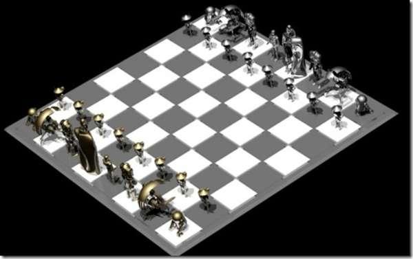 Sci Fi Robot Games Droid Chess Set