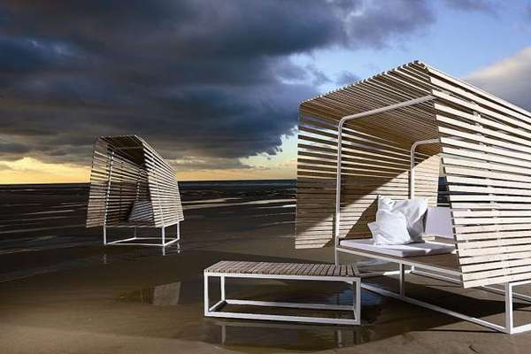 Organic Outdoor Shelters Bleu Nature Fuses Object Nature and Time In Your Garden