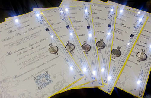 Diy Electric Wedding Invitations
