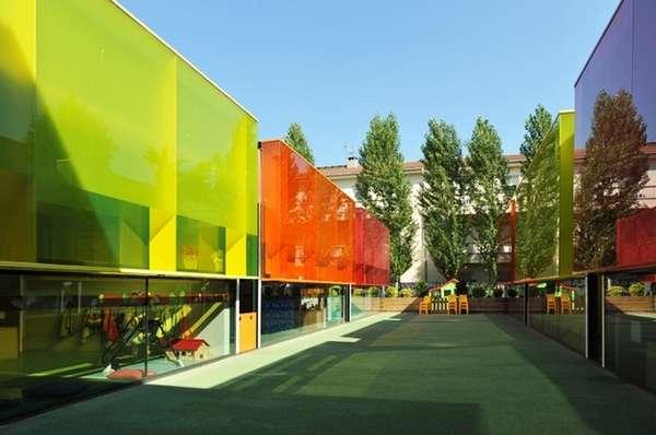 Psychedelic Kiddie Schools  Els Colors Kindergarten