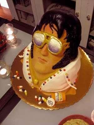 Dead Celebrity Confections The Elvis Cake Includes Aviators  a Tan