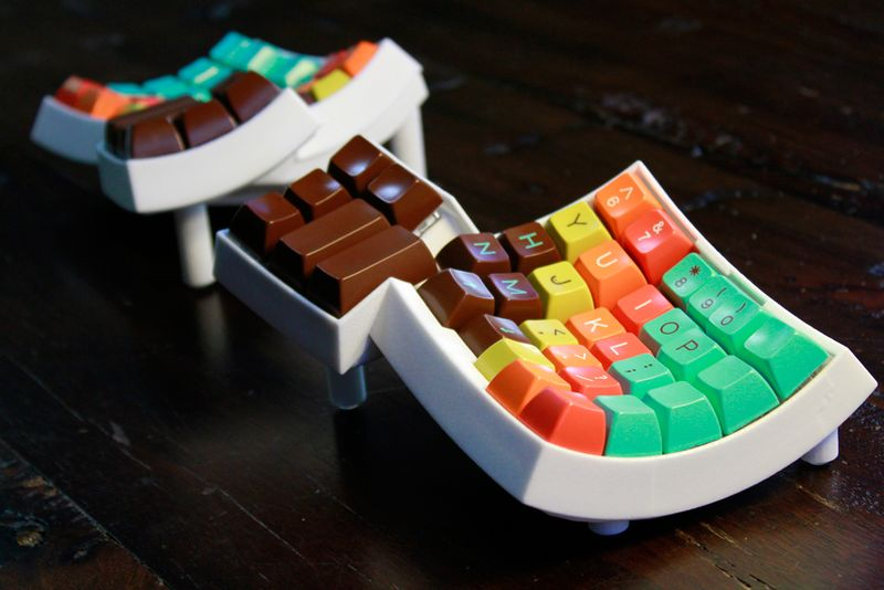 Curved 3DPrinted Keyboards  erconomic keyboard