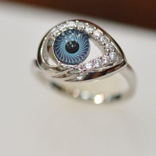 Shimmering Eye Rings Evil Eye Ring