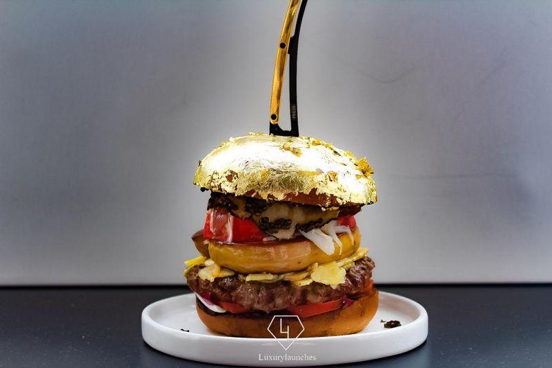 lavish gold leaf burgers