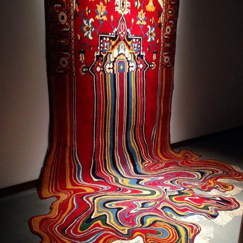 Melting Rug Sculptures : Faig Ahmed