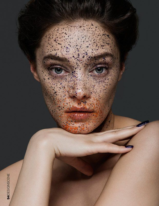 Dotted Makeup Portraits Faux Freckle