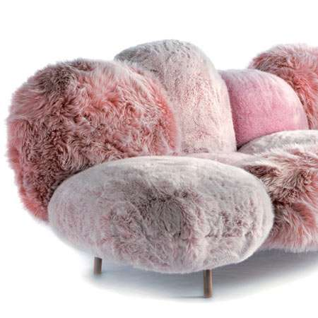 Faux Fur Sofas: Fluffy Multi