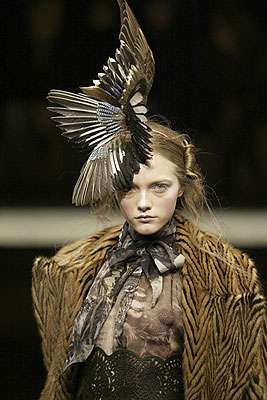 Feather Head Fashion Jean Paul Gaultier Gets Cocky With