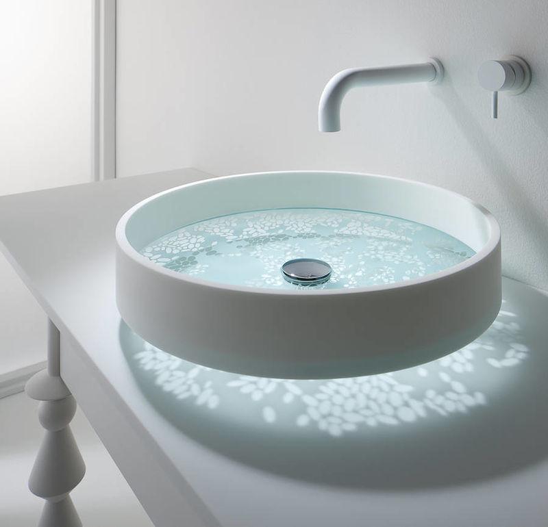 Reflective Bathroom Sinks  floating sink